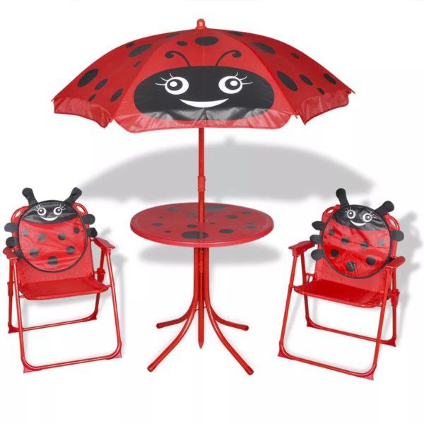 laste aiamööblikomplekt päevavarjuga