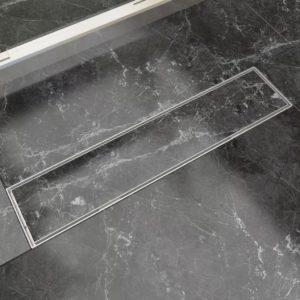 lineaarne duši äravoolusüsteem 530 x 140 mm roostevaba teras