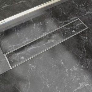 lineaarne duši äravoolusüsteem 630 x 140 mm roostevaba teras