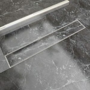 lineaarne duši äravoolusüsteem 730 x 140 mm roostevaba teras