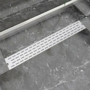 lineaarne duši äravoolusüsteem 830 x 140 mm roostevaba teras