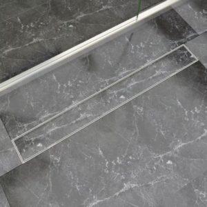 lineaarne duši äravoolusüsteem 930 x 140 mm roostevaba teras