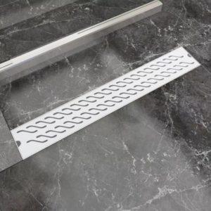 lineaarne duši äravoolusüsteem laineline 730 x 140 mm roostevaba teras