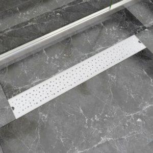 lineaarne duši mulliline äravoolusüsteem 830 x 140 mm roostevaba teras