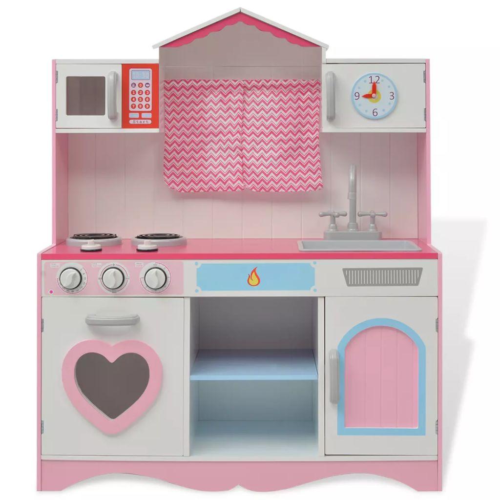 311d6a2ee34 mänguköök, puidust 82 x 30 x 100 cm roosa ja valge - JUNIIK.EE