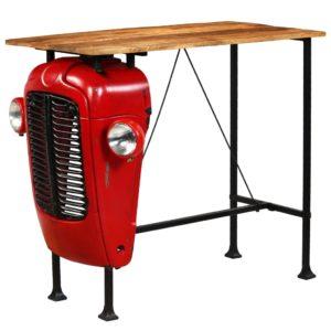 mangopuidust traktoriga baarilaud punane 60 x 120 x 107 cm