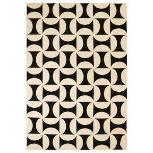 moodne geomeetrilise disainiga vaip 120 x 170 cm beež/must