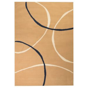 moodne ringidisainiga vaip 140 x 200 cm pruun