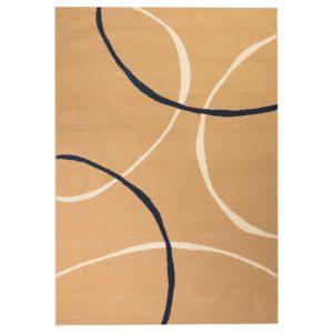 moodne ringidisainiga vaip 160 x 230 cm pruun