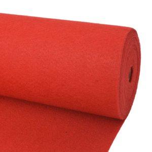 näitusevaip sile 1 x 24 m punane