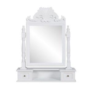 pööratava kandilise peegliga tualettlaud