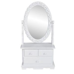 pööratava ovaalse peegliga tualettlaud