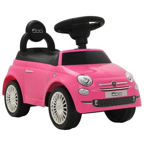 pealeistutav auto Fiat 500 roosa