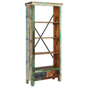 raamaturiiul tugevast taaskasutatud puidust 80 x 35 x 180 cm