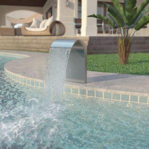 roostevabast terasest basseini purskkaev 45 x 30 x 65 cm
