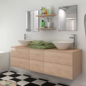 seitsmeosaline valamuga vannitoamööbli komplekt