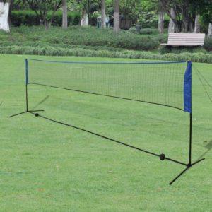 sulgpallivõrk sulgpallidega 500 x 155 cm