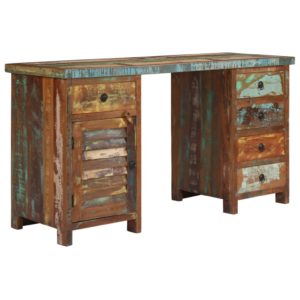 taaskasutatud puidust kirjutuslaud 140 x 50 x 77 cm