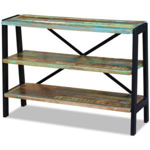 taaskasutatud puidust kolme riiuliga puhvetkapp