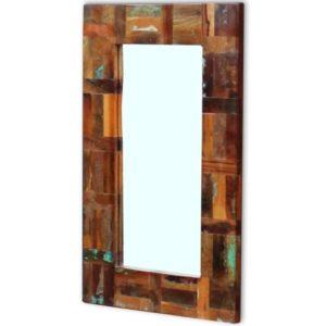 taaskasutatud puidust peegel 80 x 50 cm
