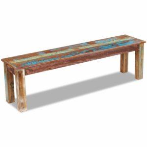 taaskasutatud puidust pink 160 x 35 x 46 cm