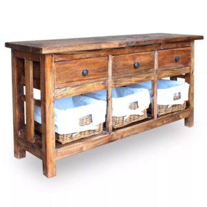 taaskasutatud puidust puhvetkapp 100 x 30 x 50 cm