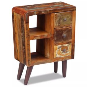 taaskasutatud puidust puhvetkapp 60 x 30 x 80 cm