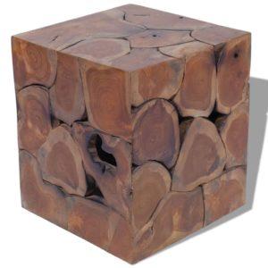 taburet tiigipuidust 40 x 40 x 45 cm