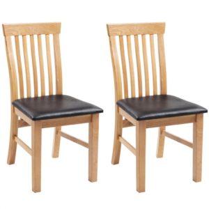 tammepuidust toolid 2 tk kunstnahast