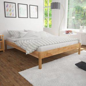 tammepuust voodiraam 140 x 200 cm naturaalne