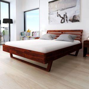 toekast akaatsiapuidust voodiraam 180 x 200 cm