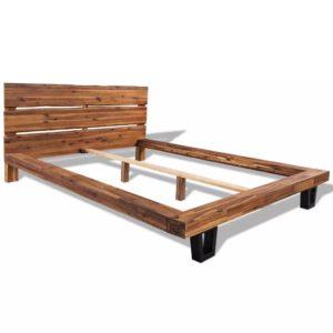 tugevast akaatsiapuidust voodiraam 140 x 200 cm