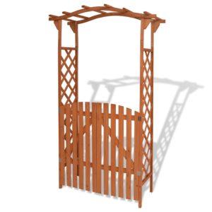 väravaga aiakaar täispuidust