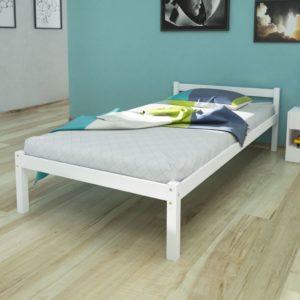 valge männipuidust voodi 90 x 200 cm