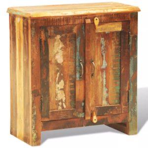 vanaaegne taastatud puidust kapp kahe uksega