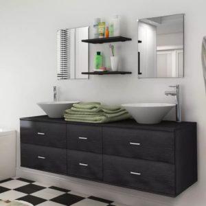 vidaXL-i üheksaosaline vannitoamööbli komplekt