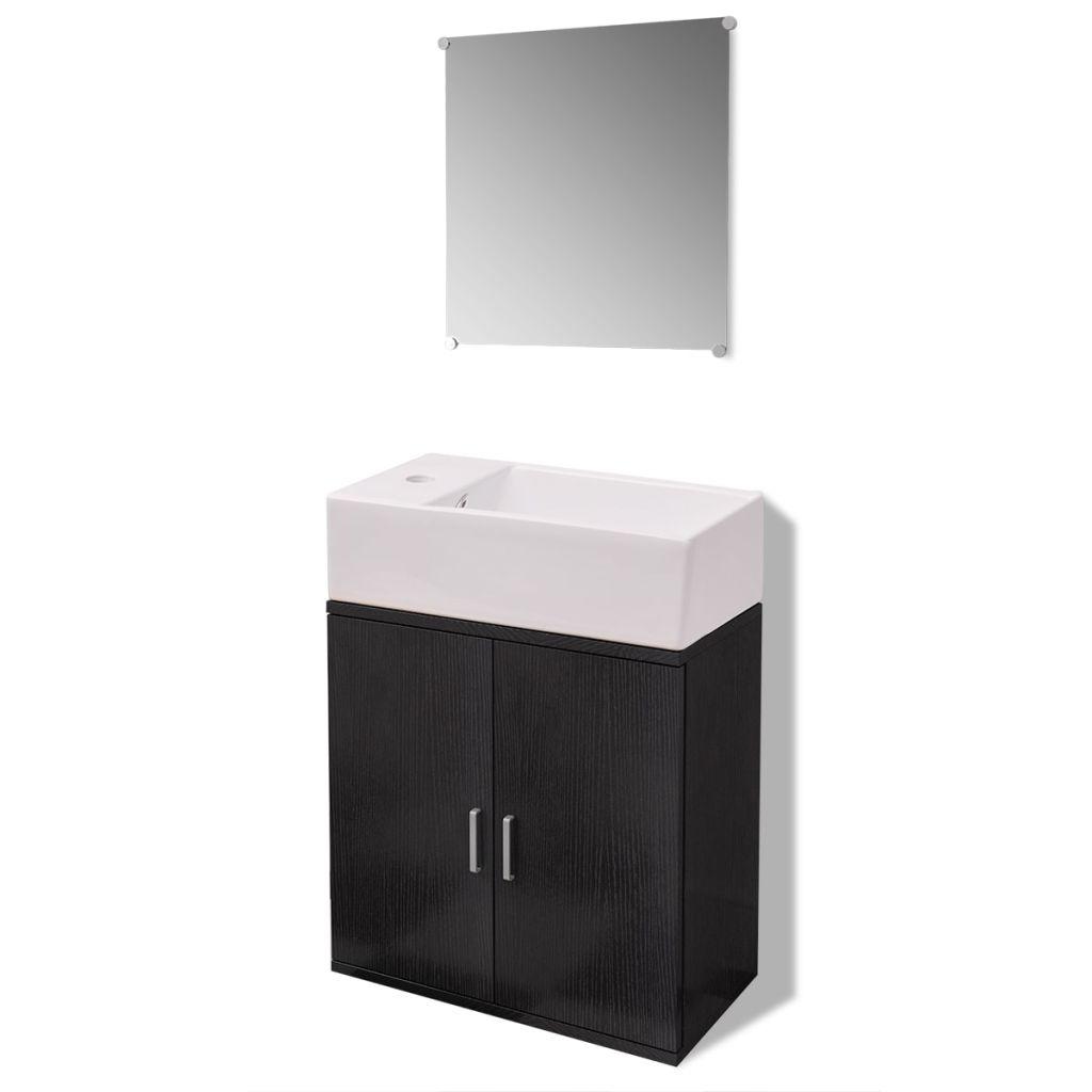 ef307226ee3 ... vannitoa mööbli- ja valamukomplekt must. vidaXL-i kolmeosaline ...