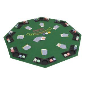 volditav pokkeri lauaplaat 2 mängijale