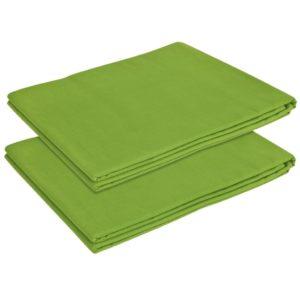 voodilina 2 tk puuvillane 240 x 260 cm õunaroheline