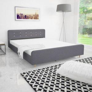 voodiraam 160 x 200 cm polsterdatud kangaga