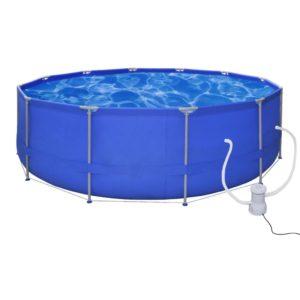 Ümmargune bassein 457 cm koos filterpumbaga 530 gal / h (90529+90561)