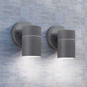 õue LED-seinavalgustid 2 tk