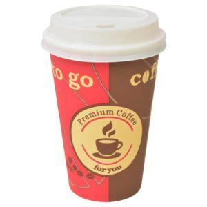 ühekordsed kohvitopsid 1000 tk kaantega 355 ml