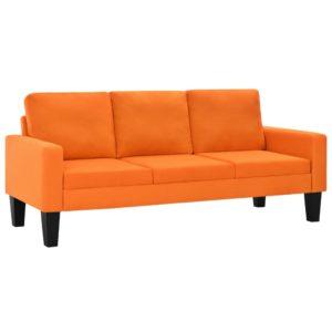 3-kohaline oranži kangaga diivan