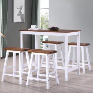 5-osaline baarilaua ja toolide komplekt