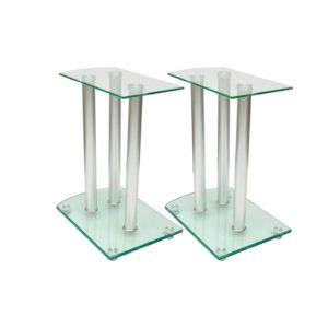 Alumiiniumist ja klaasist kõlarite alus 2 tk läbipaistev