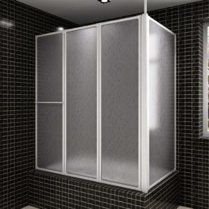 Duši/vannisein L-kujuline 4 paneeli kokkupandav 70 x 120 x 140 cm