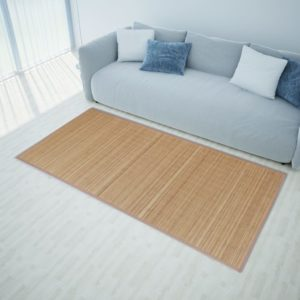 Kandiline pruun bambusvaip 120 x 180 cm