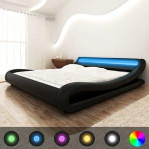 LED-tuledega madratsiga kaarjas voodi