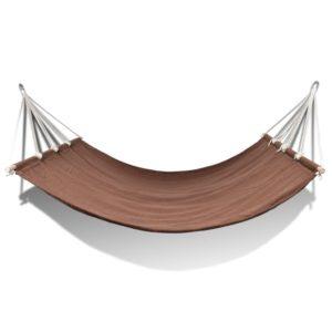 Latiga võrkkiik 210 x 150 cm pruun